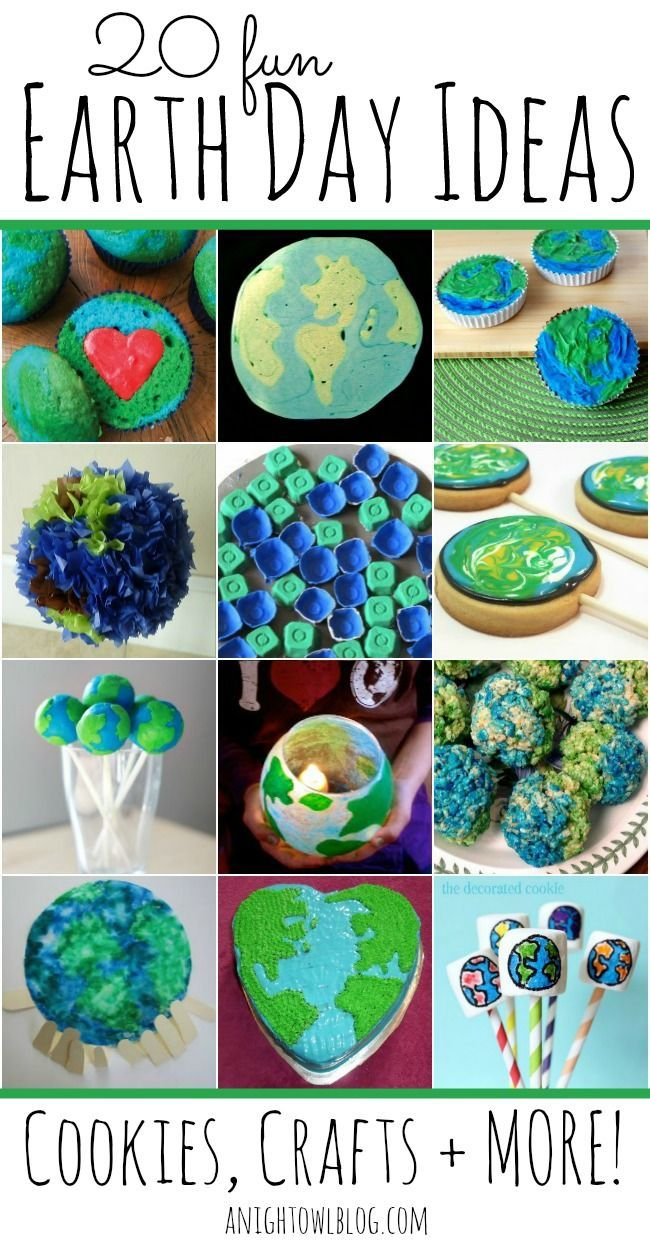 Did you know that Earth Day is April 22nd? If you'd like to celebrate, what better than some sweet treats or fun crafts? We've rounded up some FUN Earth Day cookies, crafts and more for you to make this Earth Day a special day! | found on A Night Owl's blog