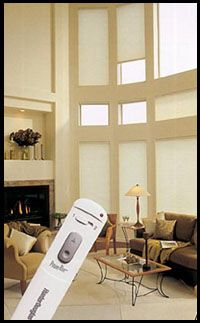 Hunter Douglas Powerise Duettes, remote control blinds, remote control shades, motorized honeycomb shades