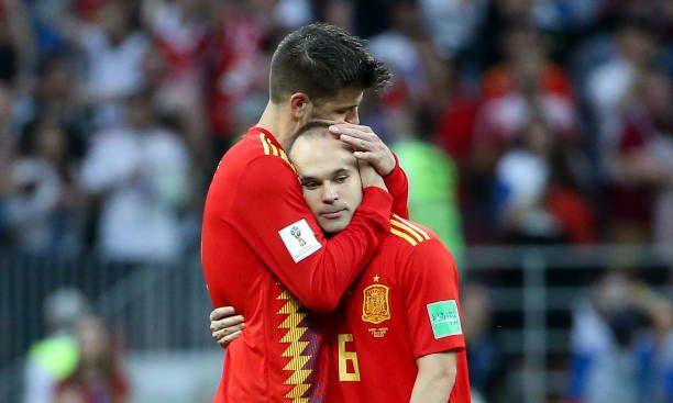 Gerard Pique Andres Iniesta Russia V Spain 2018 Gerard Pique Andres Iniesta Iniesta
