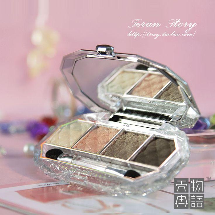 eye makeup - http://zzkko.com/n90362-orea-VOV-Diamond-Glitter-four-color-eye-shadow-box-bare-earth-colors-black-smoky-eye-makeup.html $12.50