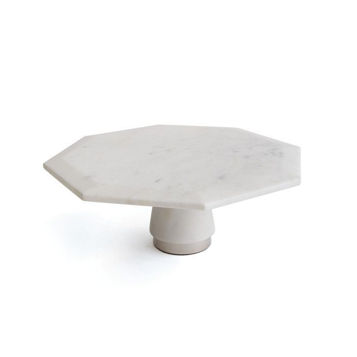 White Marble and Metal Dessert Cake Stand Display