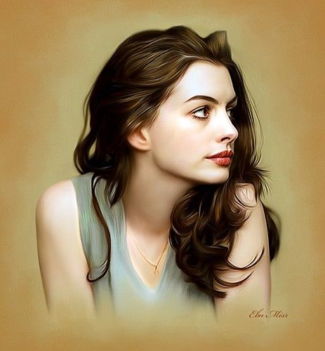 Anne Hathaway Drawing: 113 Best Images About •₪• Arte