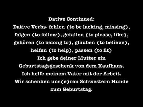 German adjective endings, video