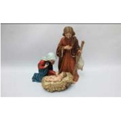 RESIN JOSEPH/MARY/JESUS 28CM