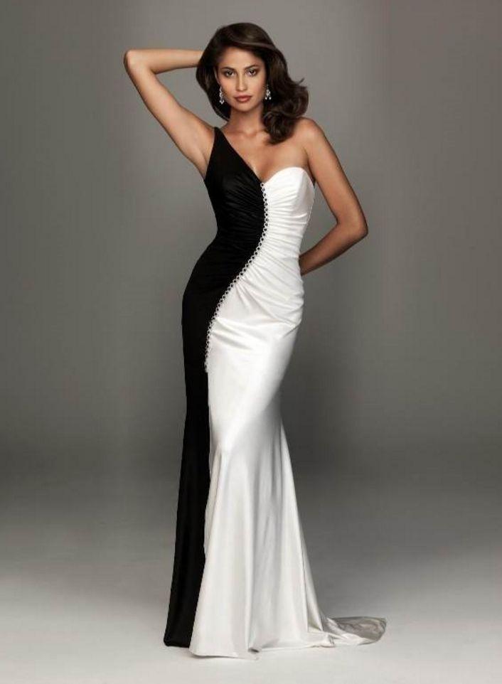 black and white vera wang dress