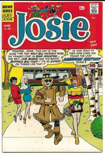 Josie-41-1969-Archie-Comics-Josie-and-the-Pussycats-RARE                                                                                                                                                     More