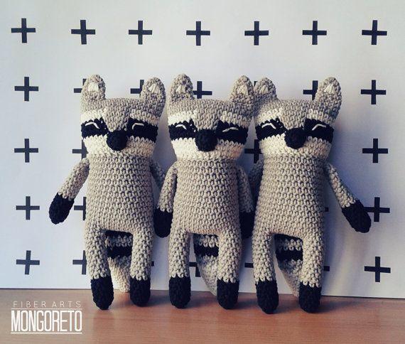 Patrón de amigurumi mapache