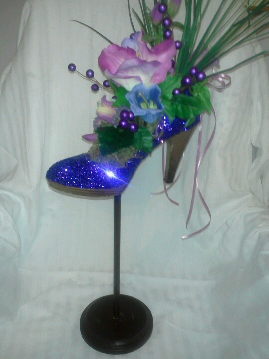 Shoe Centerpiece By Designs By CJ Wedding Or Party