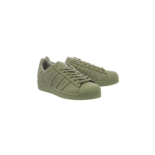 448d29d3d3798 ... Adidas Superstar 1 Pharrell Supercolor Shift Olive ( 67) ❤ liked on  Polyvore featuring shoes ...