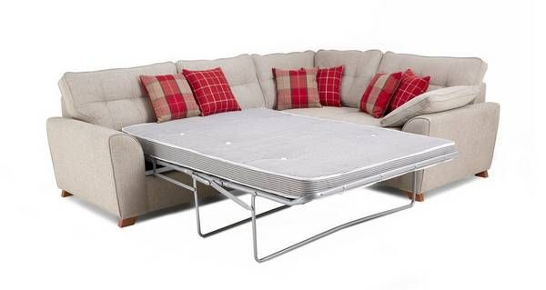 Keeper Left Hand Facing Arm 3 Seater Deluxe Corner Sofa Bed | DFS