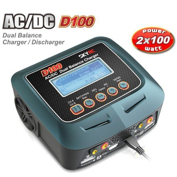 amazones gadgets Q, SkyRC D100 AC/DC Dual Balance Charger Discharger For RC Models: Bid: 140,30€ Buynow Price 140,30€ Remaining Negócio…