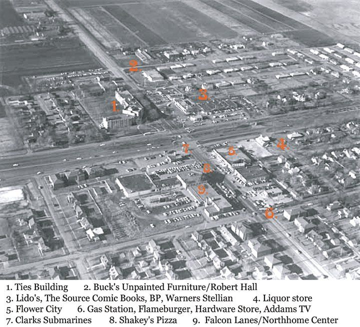 1958 Falcon Heights Aerial Picture   Snelling And Larpenteur