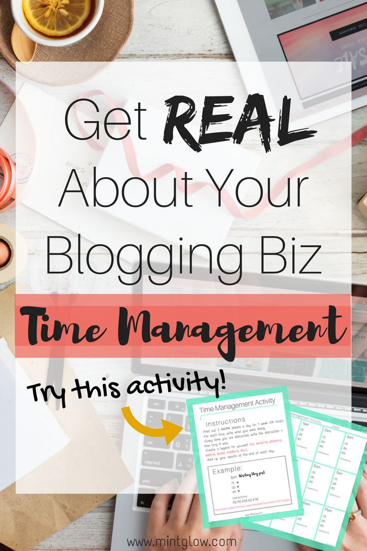 Time Management advice for bloggers and business owners (with a fun activity!!).