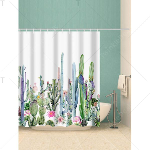 Twinkledeals With Images Cactus Shower Curtain Southwest