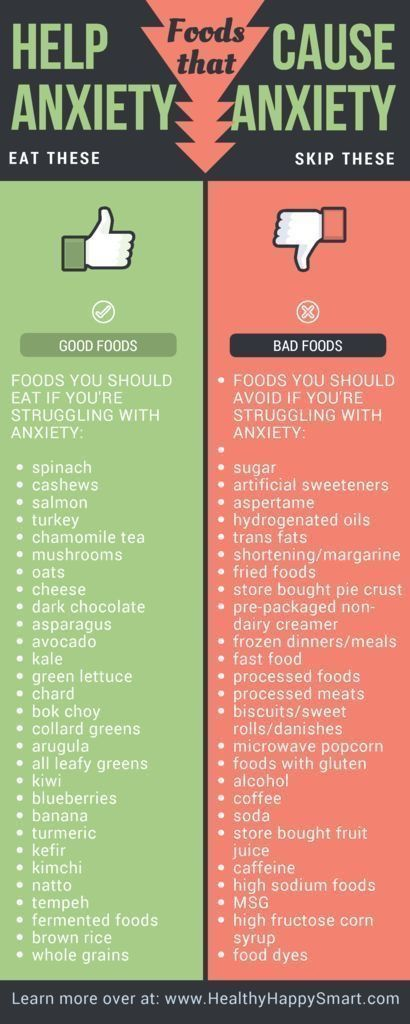 Foods for anxiety