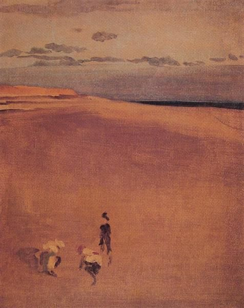 The Beach at Selsey Bill, c.1865 - James McNeill Whistler