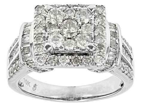 Meet Your New Favorite White Diamond 10k White Gold Ring 1 68ctw Jtv Offers Exceptional Quality And Value With This Pie White Gold Rings White Gold Gold Rings