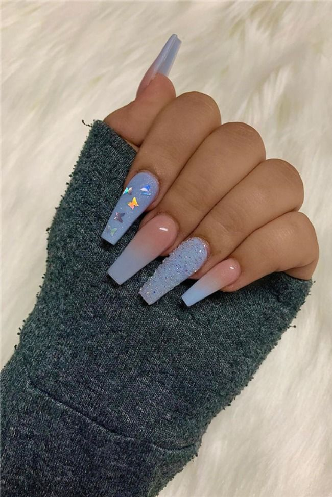 45 Don T Miss Coffin Nail Art Design For Spring In 2020 In 2020 Best Acrylic Nails Long Acrylic Nail Designs Pretty Acrylic Nails