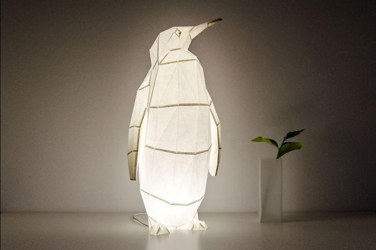 Lámparas con forma de animales de origami