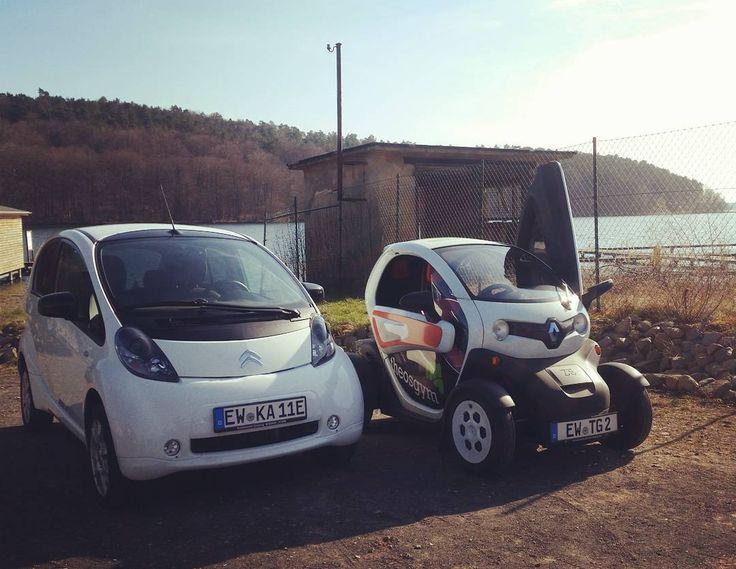 1. #Elektroauto Ausfahrt!  #jedenmonateinmal #renault #twizy #citroen #czero #ev…