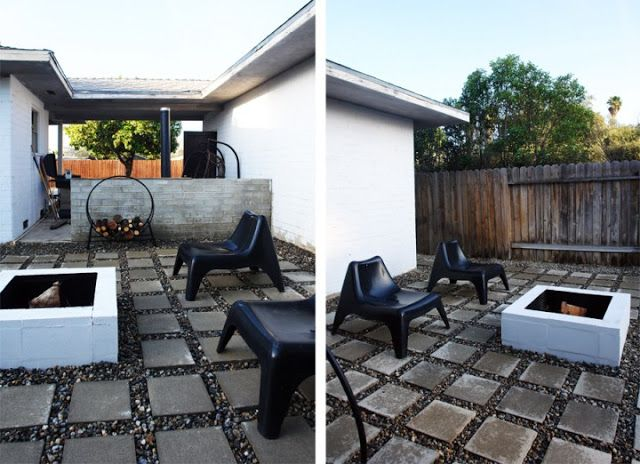 Patios and hedges