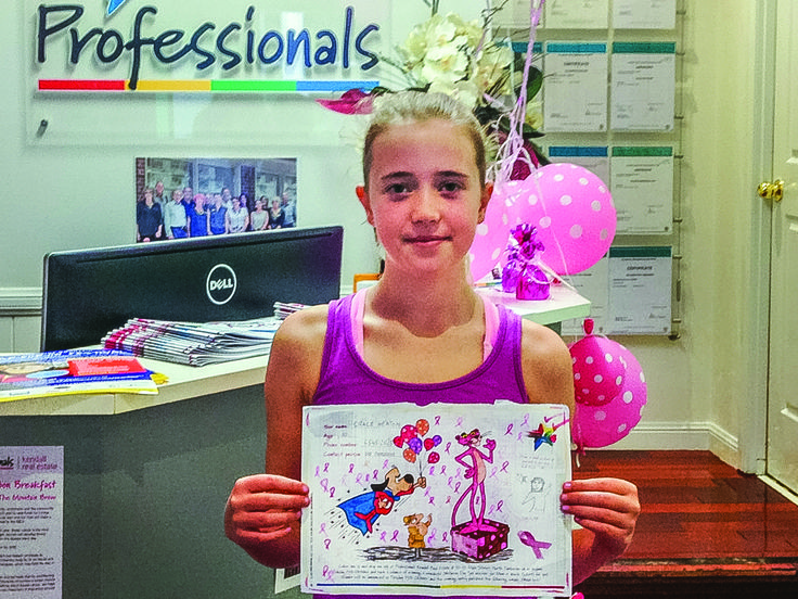 Congrats to Grace - the winner of our breast cancer colouring in competition 2015