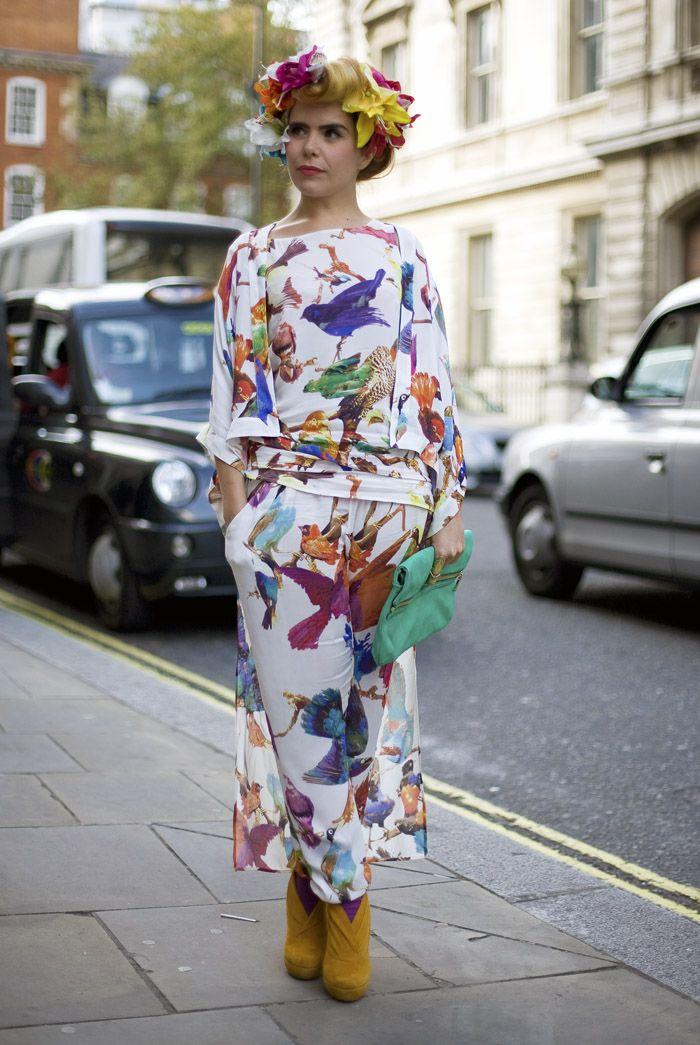 Paloma Faith, Bird Print   Street Fashion   Street Peeper   Global Street Fashion and Street Style