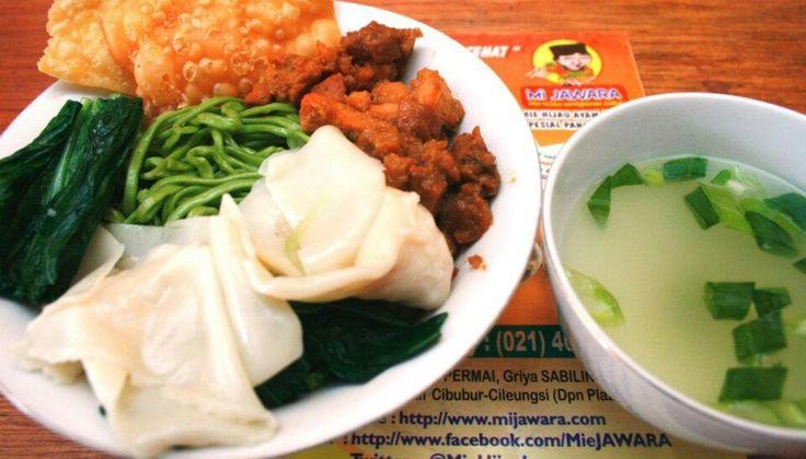 Mie ayam jamur pangsit | mie hijau
