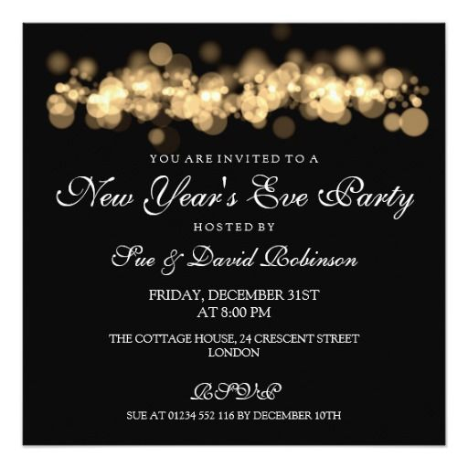 209 best New Year Eve party invitations images – New Years Eve Party Invitations
