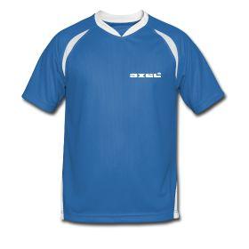 Männer Fußballtrikot - Fußballtrikot für Männer, 100% Polyester, Marke: Spreadshirt.   Das Axel®Shirt als Trikot in blau. Für den echten Sport-Fan, für Fussball-Fans und für die Meisterschaften. Einfach Axel®.