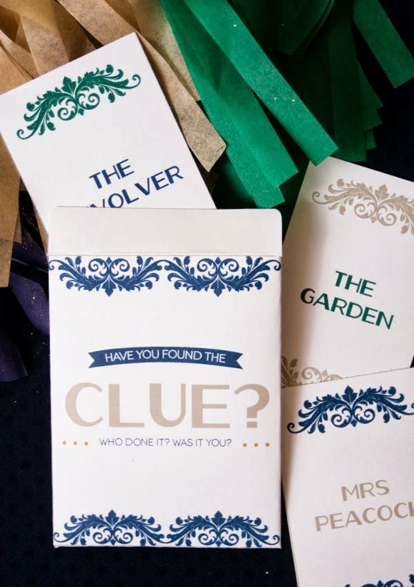 How to Host a CLUE Mystery free game printable -