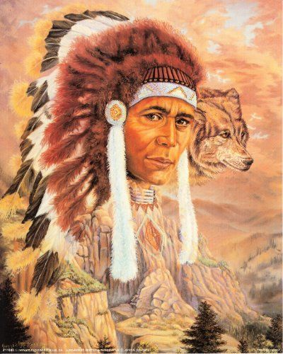 Brighten up any room with this Native American Indian chief with wolf art print poster. This piece of artwork reflects the ultimate definition of excellence. This poster will be a perfect gift for your relatives. It would also make a great gift for those who may be interested in knowing about the lifestyle of Native Americans. This poster is made of using Eco-solvent inks on high quality paper which ensures long lasting beauty of the product. Order today and enjoy your surroundings.