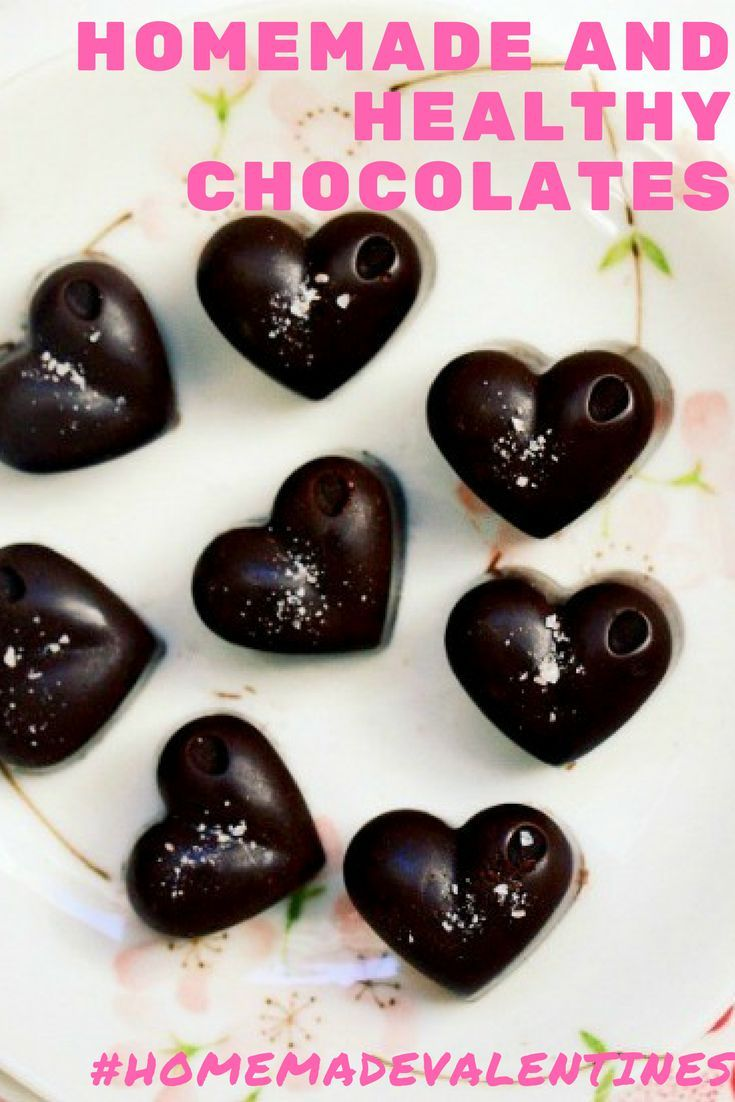 Homemade Clean Eating Chocolates. Surprise someone special with delicious chocolates made from hand. Only 3 ingredients and no refined sugar via @wholefoodbellies