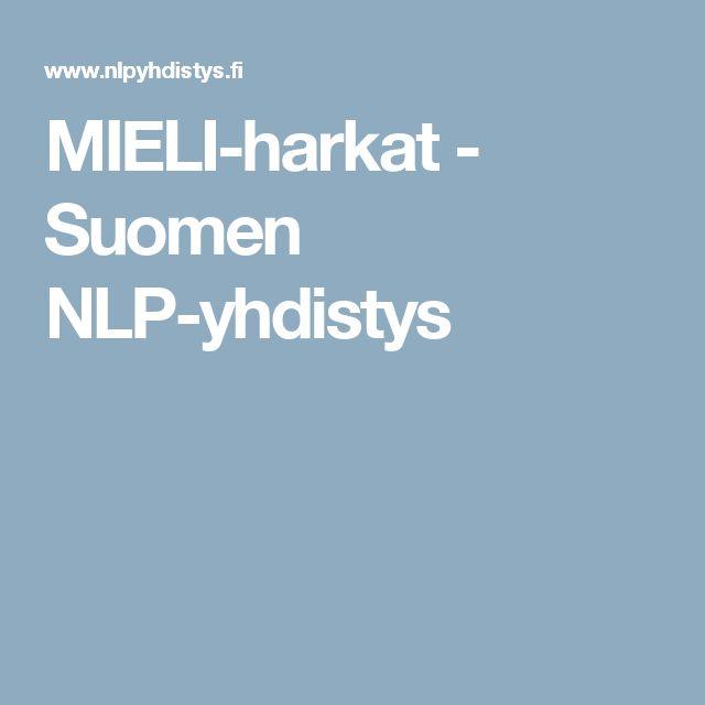 MIELI-harkat - Suomen NLP-yhdistys