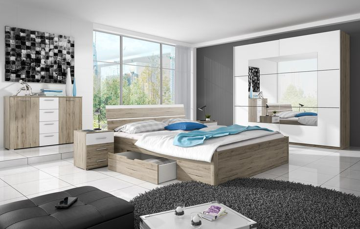 Such a set perfectly will work in of you of bedroom. SALE%%% Takie zestaw sprawdzi się w Państwa sypialni. SUPER PROMOCJA%%% #bed #bedroom #mebledosypialni #sypialnia #wadrobe #garderoba #helvetia #mirjan24 #design