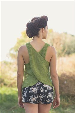 Green Apple Tank by Amy Palmer, Knitscene Summer 2015