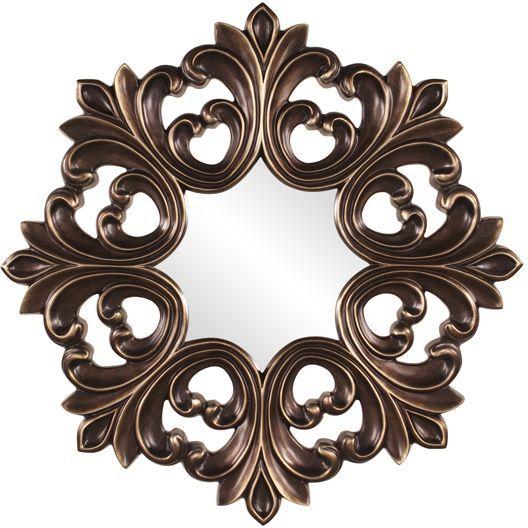 "Bronze Decorative Mirror 35"""
