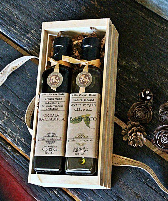 Olive Oil & Balsamic Vinegar Gourmet Gift Set - Gourmet Hostess Gift - Crate Gift - Crate Food Gift