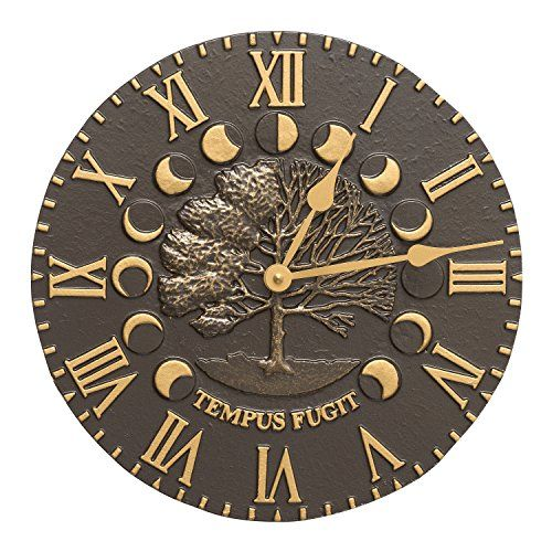 whitehall products times and seasons clock french bronze