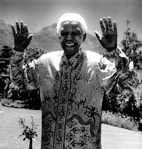 Anton Corbijn, Nelson Mandela, Inwards and Onwards, b/w photography, 2003, 146 x 146 (Edition 6+2 AP)
