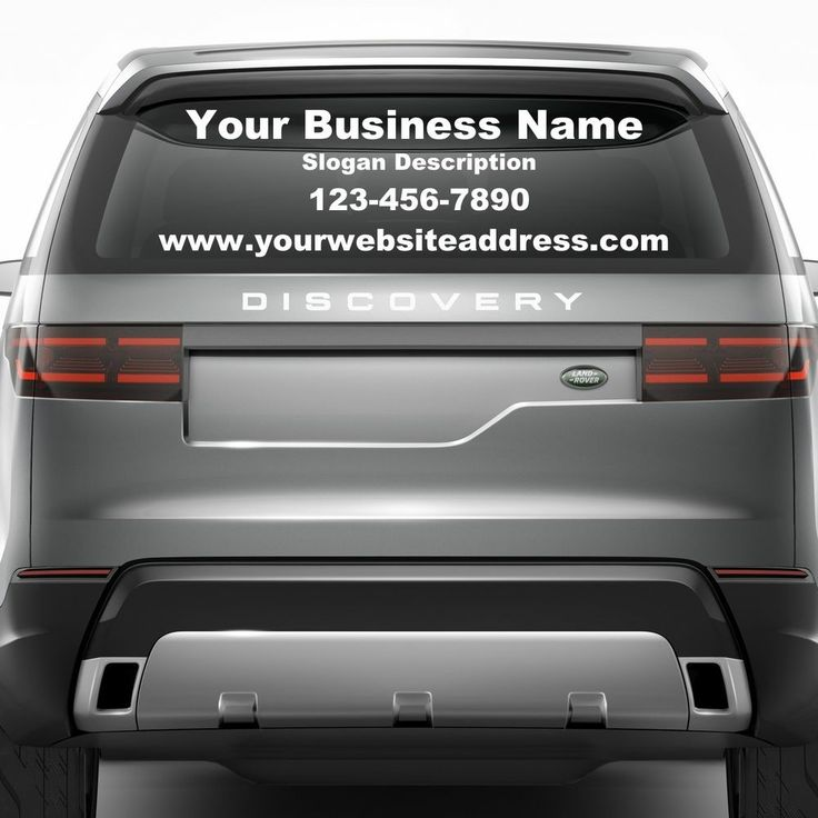 Personalized custom small business name vinyl decal window sticker lettering car