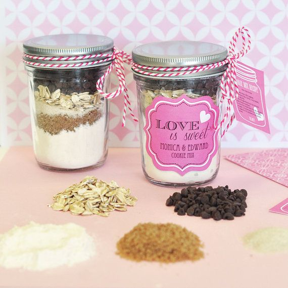 Cookie Mix in a Jar Mini Mason Jars  DIY Wedding or Favor Supply  Do it Yourself Mason Jars (25) with FREE Cookie Instructions on Etsy, $54.50