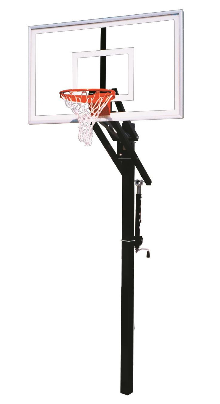 First Team Jam Nitro In Ground Outdoor Adjustable Basketball Hoop 60 inch Tempered Glass from NJ Swingsets