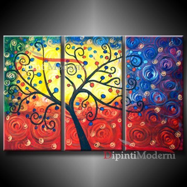 Dipinto albero della vita quadri moderni pinterest - Quadri a specchio moderni ...