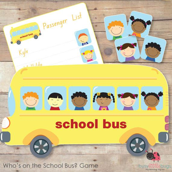 "Who's on the School Bus? game  Sep  10  No comments. Add one below!  We have a really lovely new game to add to the family today, let me introduce a great matching game called ""Who's on the School Bus?""    Our ""Who's on the School Bus? game"" is a fun matching game for your children. All images are of"