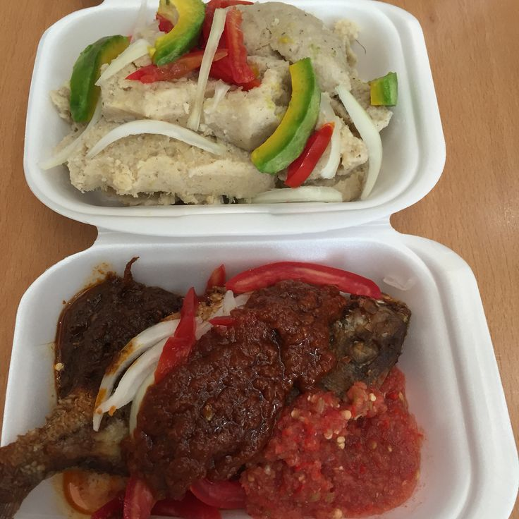 Kenkey + Avocado + Fish. #Ghana #Food
