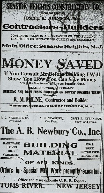 Newspaper Article: SEASIDE HEGHTS, N.J.. FRIDAY JANUARY 8, 1915 SEASIDE HEIGHTS Interesting Items Picked up in Borough about the  People You Know. - Mr. Daniel J. Klee of West Philadelphia, visited his cottage on Sunday. - Mr. Alfred Hiering spent the…