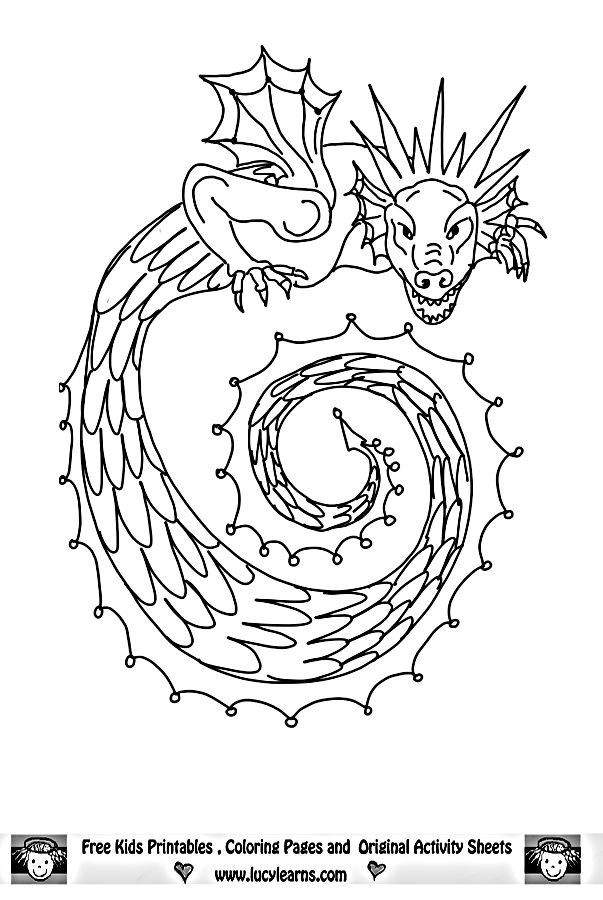 fairy and dragon coloring pages - photo#48
