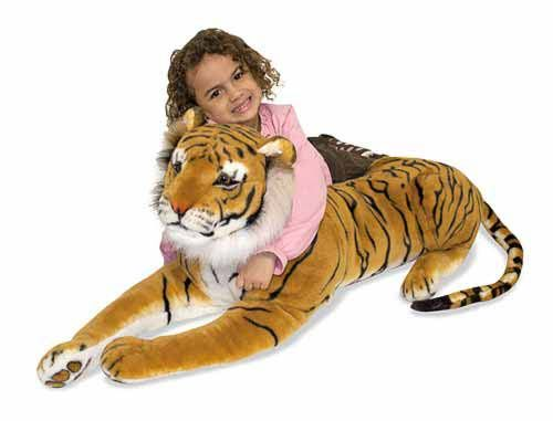 This elegant Siberian tiger features lifelike details from the tip of its striped tail to the pads on its front paws.