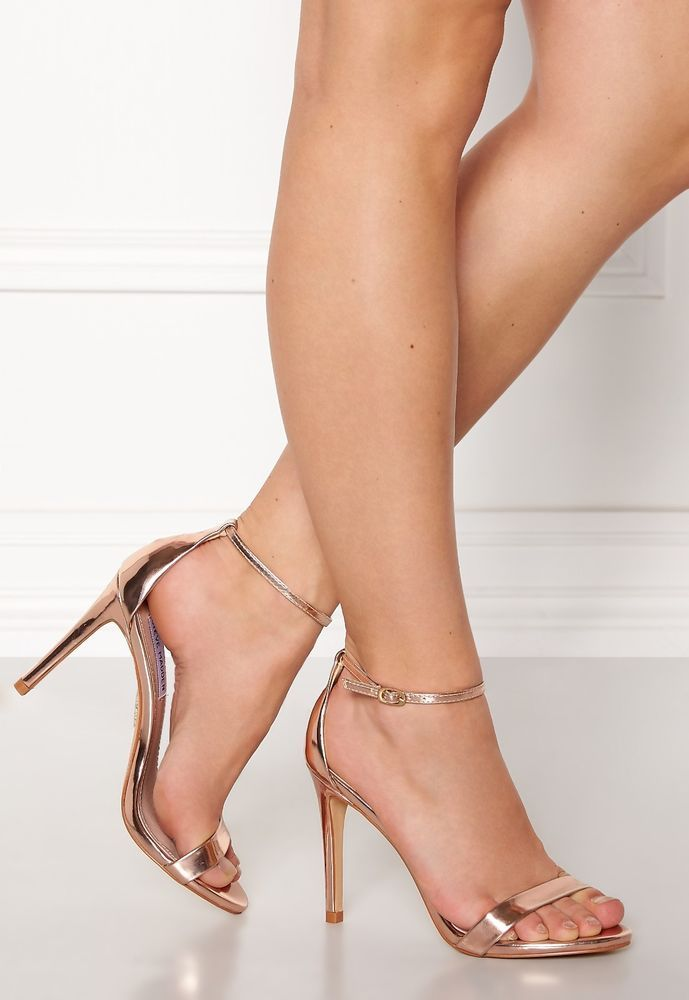 d2a7dfda1c9 STEVE MADDEN Women s Stecy Stiletto Heels two piece Sandal Rose Gold Size  7.5  StevenMadden  StilettoHeels